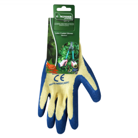 Latex Coated Garden Gloves - Kingfisher Gardening - Size Medium